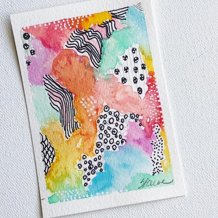 Abstract Watercolor With Artmarks Workingtiny