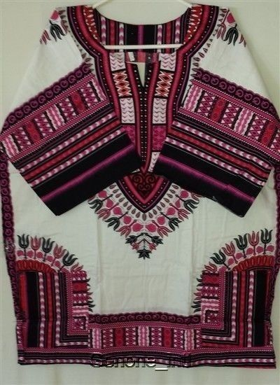 Men's Dashiki Shirts African Fashion Tops Vintage Hippy Women's Blouse Free Size #Handmade #Dashiki