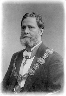 Karl Lueger (German: [ˈlu̯eːɡɐ], not *[ˈlyːɡɐ]; 24 October 1844 – 10 March 1910) was an Austrian politician, mayor of Vienna, and leader and cofounder the Austrian Christian Social Party. He is credited with the transformation of the city of Vienna into a modern city. The populist and anti-Semitic politics of his Christian Social Party are sometimes viewed as a model for Hitler's Nazism.[1]