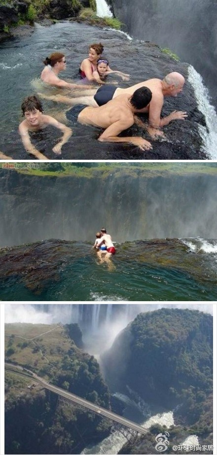 Do You Dare To Swim In This Pool Of Nature Victoria Waterfall Pieces Of Earth Pinterest