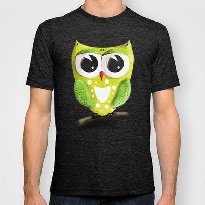 Owl T-shirt by Richard Eijkenbroek - $22.00