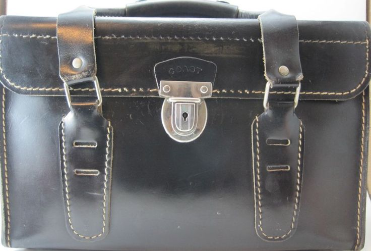 Coast Vintage Genuine Leather Camera Photo Equipment Case Black Made In USA #Coast #HardCase