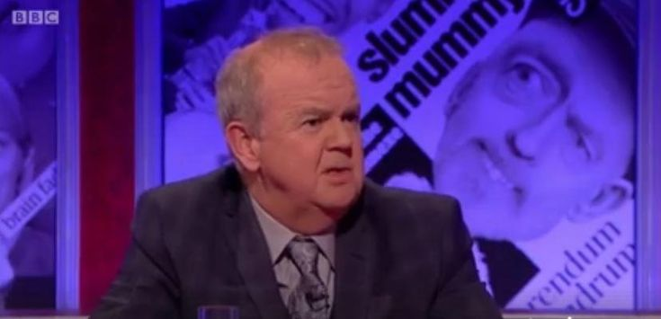 Ian Hislop points out awkward questions about BBC bias while on the BBC