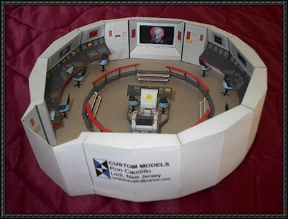 Star Trek - USS Enterprise NCC-1701 Bridge Free Paper Model Download | PaperCraftSquare.com