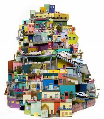 cardboard city - would love to do this with yr 8 as a collaborative project