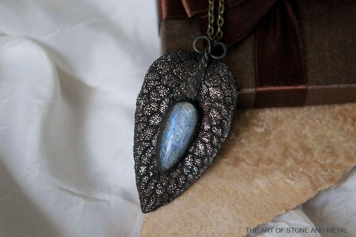 Купить Кулон с беломоритом Сумрачный Свет. - лунный камень, беломорит, кулон…