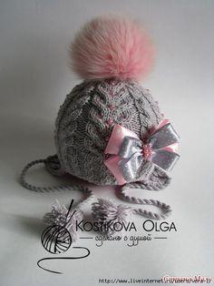 вязаные шапочки, повязки на голову для девочек