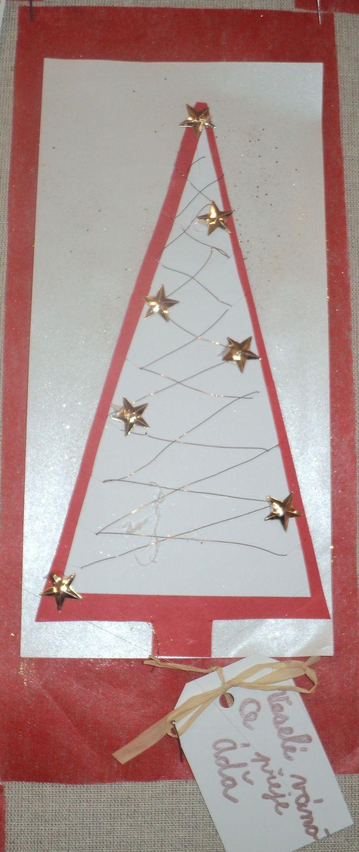 Vánoční stromeček s přáním