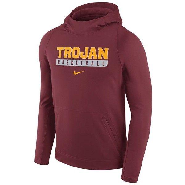 Men's Nike USC Trojans Basketball Fleece Hoodie ($60) ❤ liked on Polyvore featuring men's fashion, men's clothing, men's hoodies, red other, mens hoodie, mens fleece lined hoodies, nike mens hoodies, mens fleece lined hoodie and mens red hoodie
