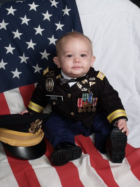 Baby Quartermaster Army Dress Blues Size 612M by SGTmom03 on Etsy