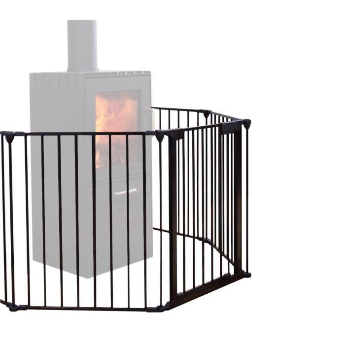 AT4 Barrière de sécurité pare-feu métal Noir Noir - Achat / Vente barrière de…