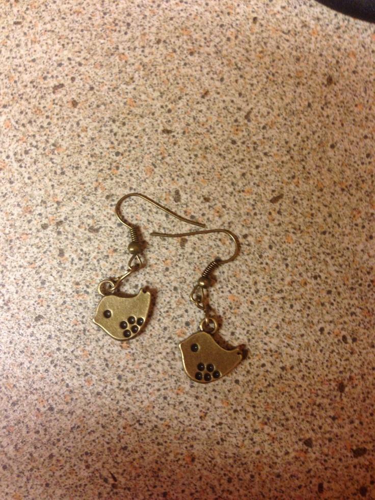 Cute bird earrings