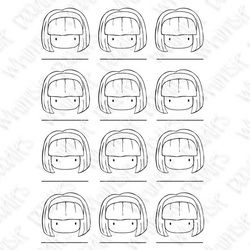 Free printable blank for practicing skin and hair combos