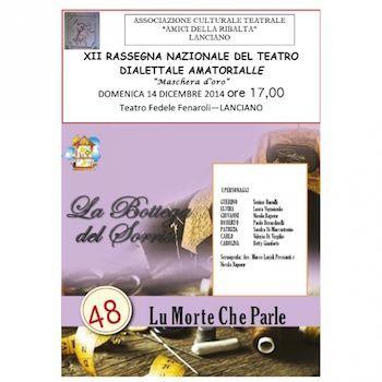 """Lanciano, """" 48 lu morte che parle"""" - Chieti #teatro #dialettale"""