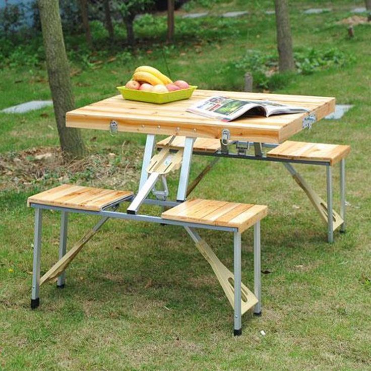 best 25 portable picnic table ideas on pinterest folding picnic table bench folding picnic. Black Bedroom Furniture Sets. Home Design Ideas