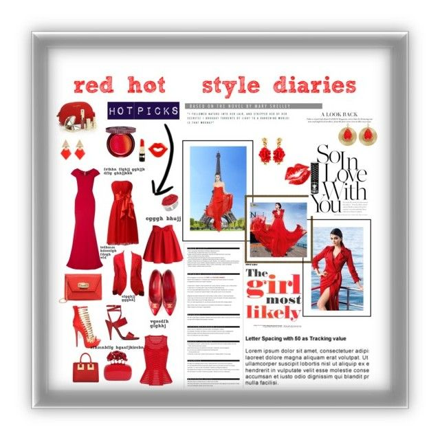 """""""red hot style diaries"""" by preet310 ❤ liked on Polyvore"""