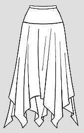 Квадратная юбка на кокетке (моделирование)