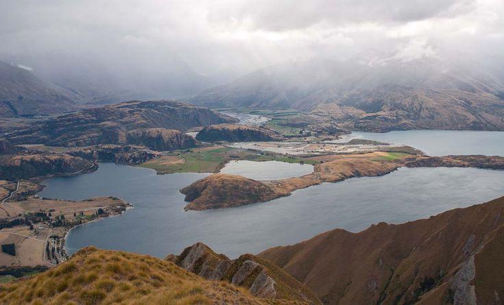 Roys Peak, vyhlídka na jezero Wanaka, Nový Zéland