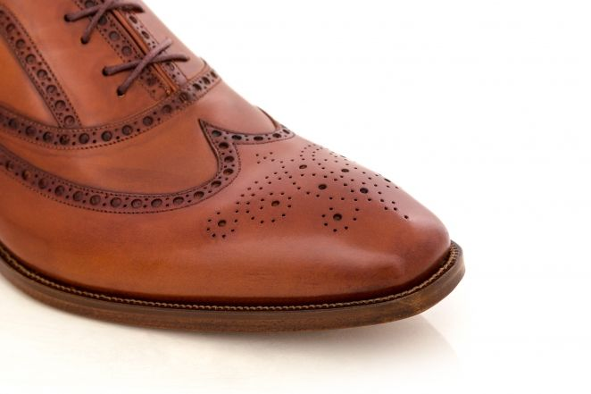 Pantofi oxford pictati manual 15174 MARO