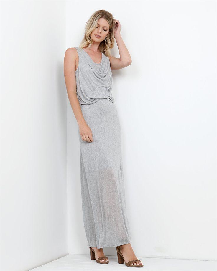 Sheer Jersey Maxi Dress