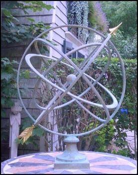 Large Verdigris Armillary Sphere Garden Art Finegardenproducts