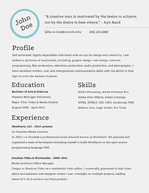 simple clean and professional this resume will help get you through the door