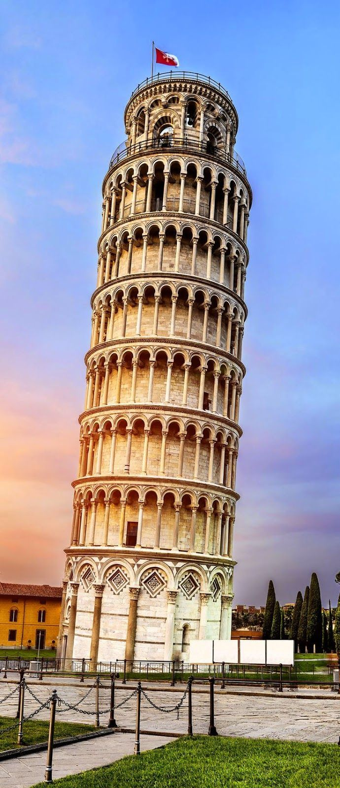 Pisa, place of miracles: The leaning tower. Tuscany, Italy
