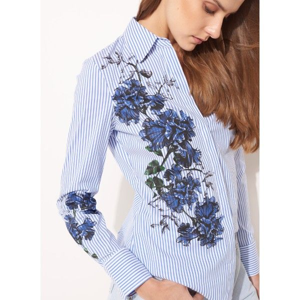 Le Lis Blanc. Blue floral print design, estampa localizada floral azul