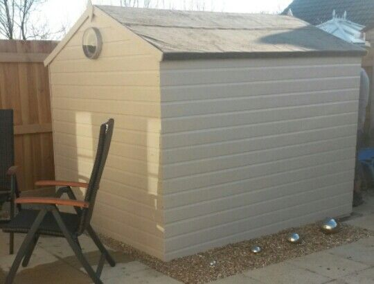 Modern shed colour cuprinol natural stone projects to for Stone garden shed designs