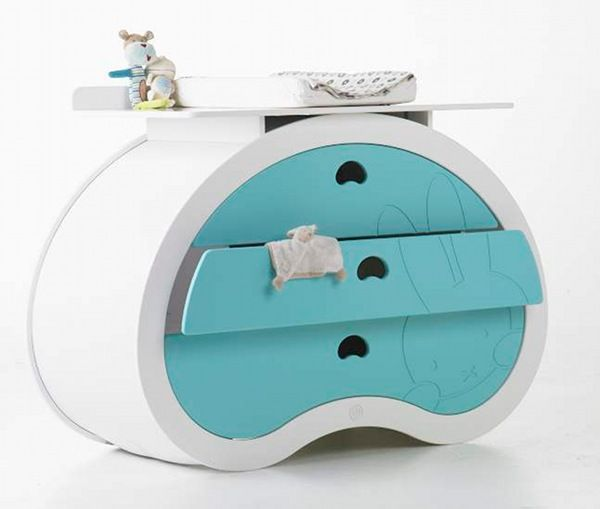"""Not interested in the traditional changing table?  """"Change"""" it up with this unique piece."""