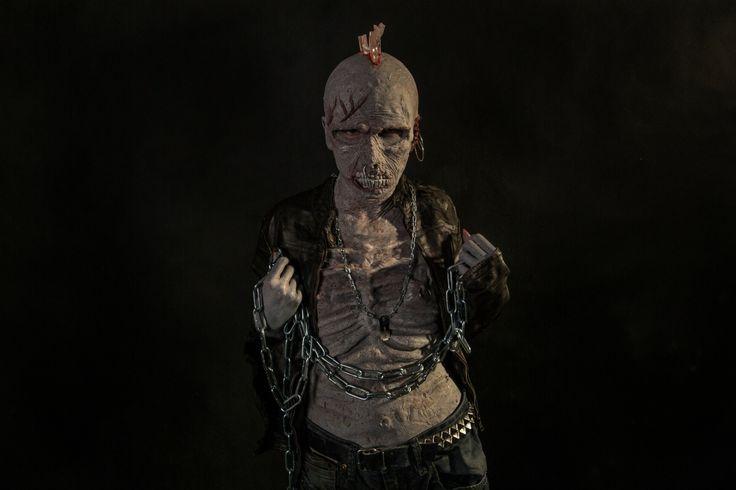 Punk Zombie silicone / latex prosthetics  #silicone, #sfx, #zombie
