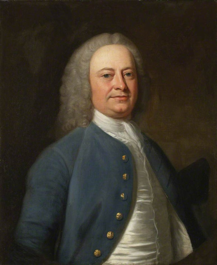 """""""Thomas Holme, Mayor of Kendal"""", George Romney/Christopher Steele, ca. 1750; Kendal Town Council KTH201"""