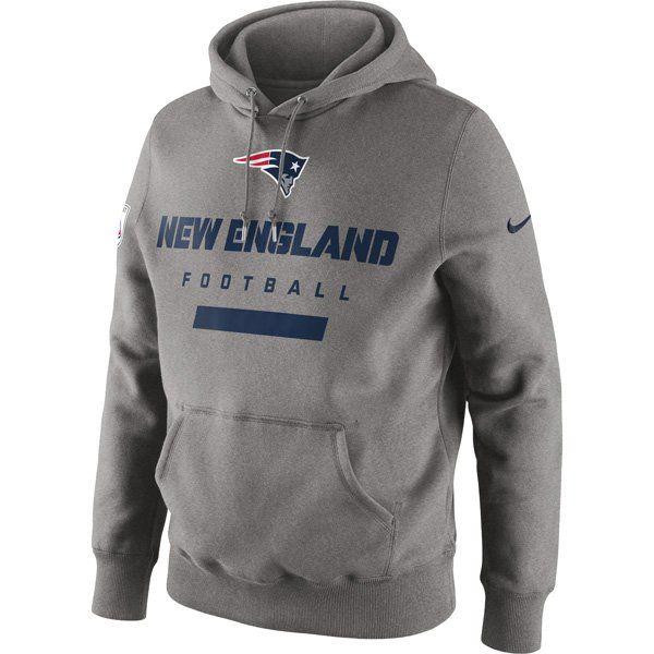 Nike Patriots Property of Hood-Gray - The NEW Belichick hoode!