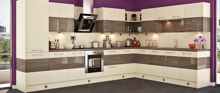 Crema & Mali Wenge Kitchen from The Wren Autograph Range ...