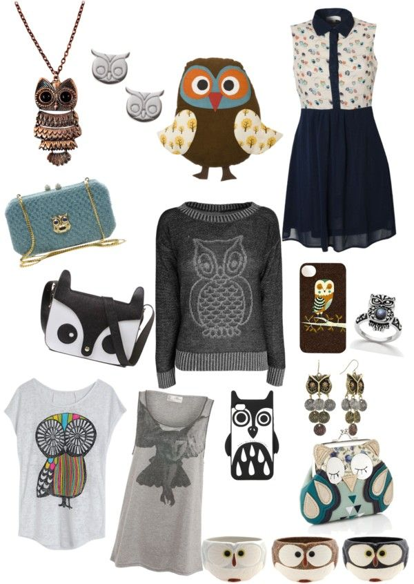 """""""cute owl stuff ❤"""" by chelseapun ❤ liked on Polyvore"""