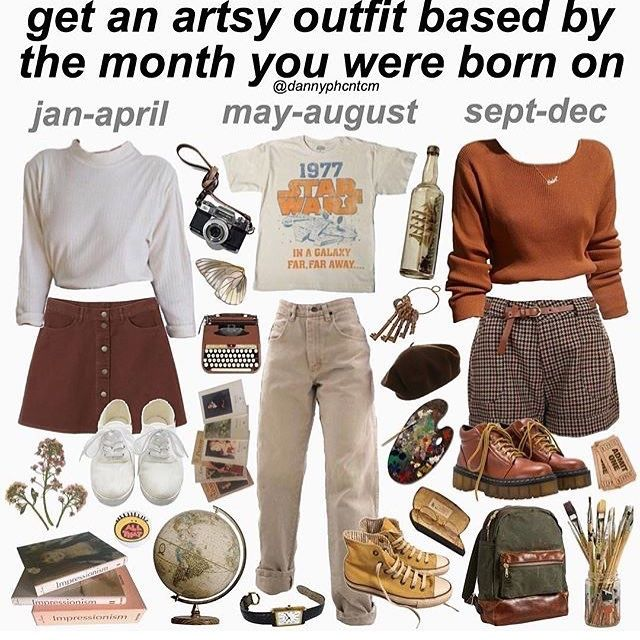 Artsy Outfit Collage Aesthetic Clothes Artsy Outfit Vintage Outfits