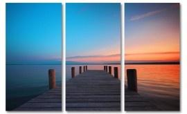 Blik op zee drieluik schilderij