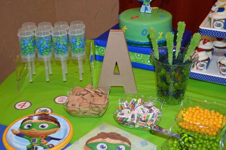 super why! Birthday Party Ideas | Photo 2 of 16 | Catch My Party