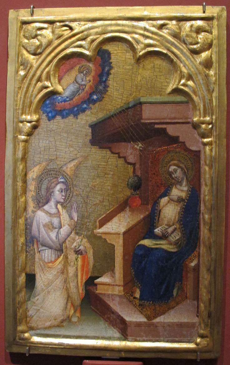 Simone dei crocifissi, annunciazione, 1380.