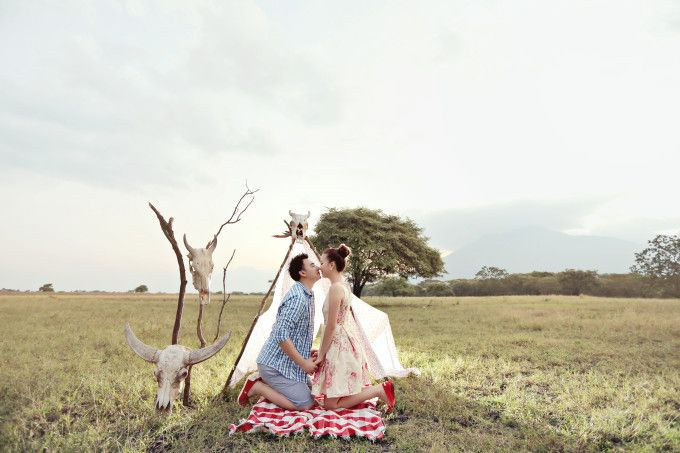 Camping themed engagement photoshoot | Capture Your Lifetime Moments With Ariespangestu Photography | http://www.bridestory.com/blog/capture-your-lifetime-moments-with-ariespangestu-photography
