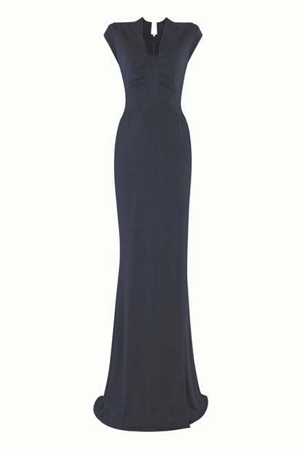 A vintage 1940s heritage dress with a modern strong perspective - Slate Blue