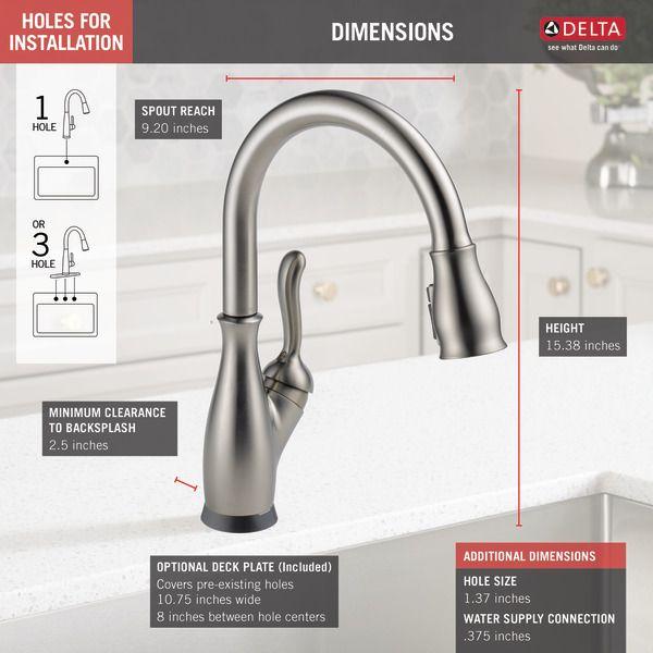 9178t Sp Dst Delta Faucets Touch Kitchen Faucet