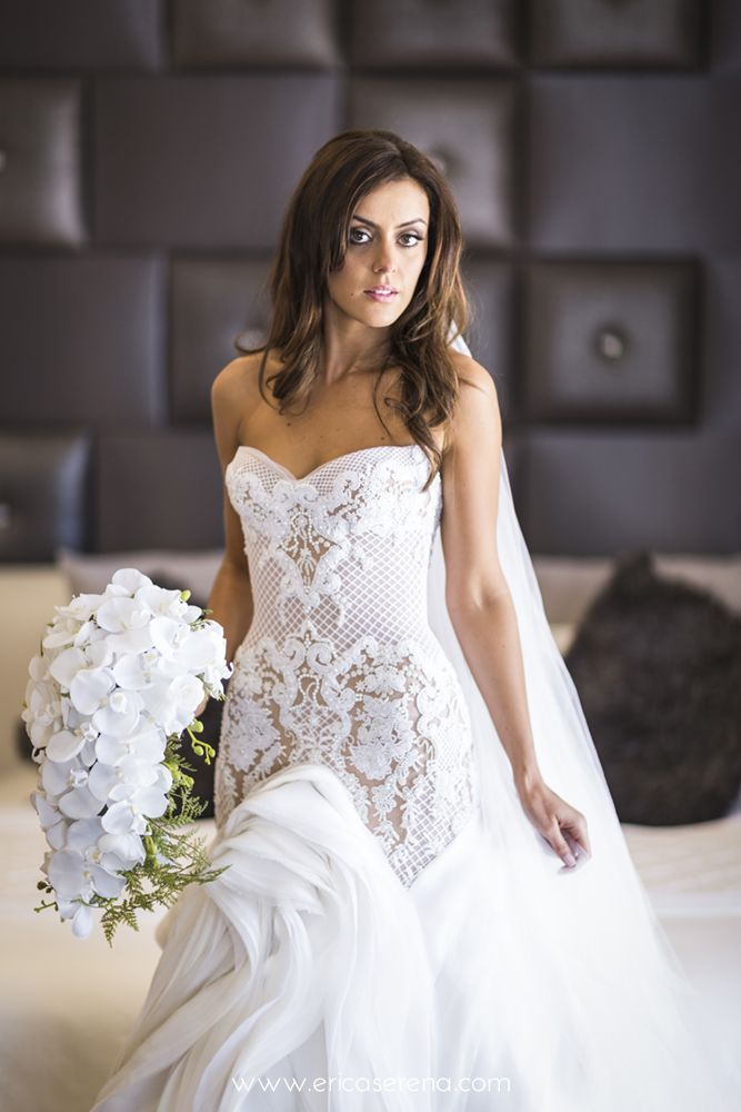 J'Aton couture wedding gown - real wedding © Erica Serena 2014