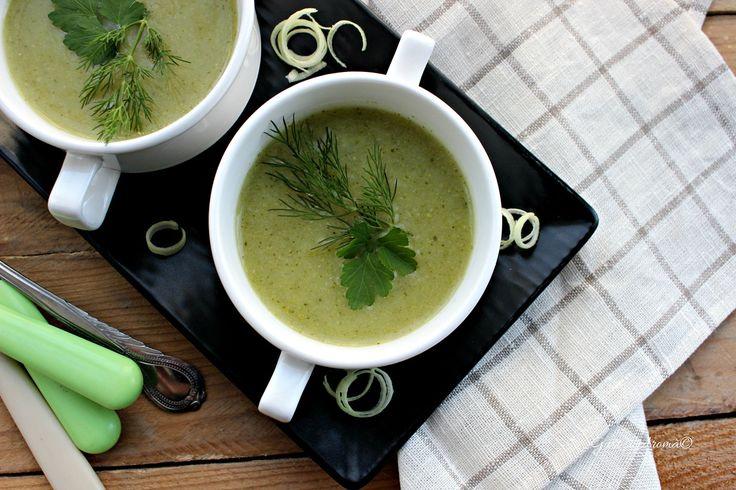 Supă cremă de broccoli și praz - Gust și Aromă