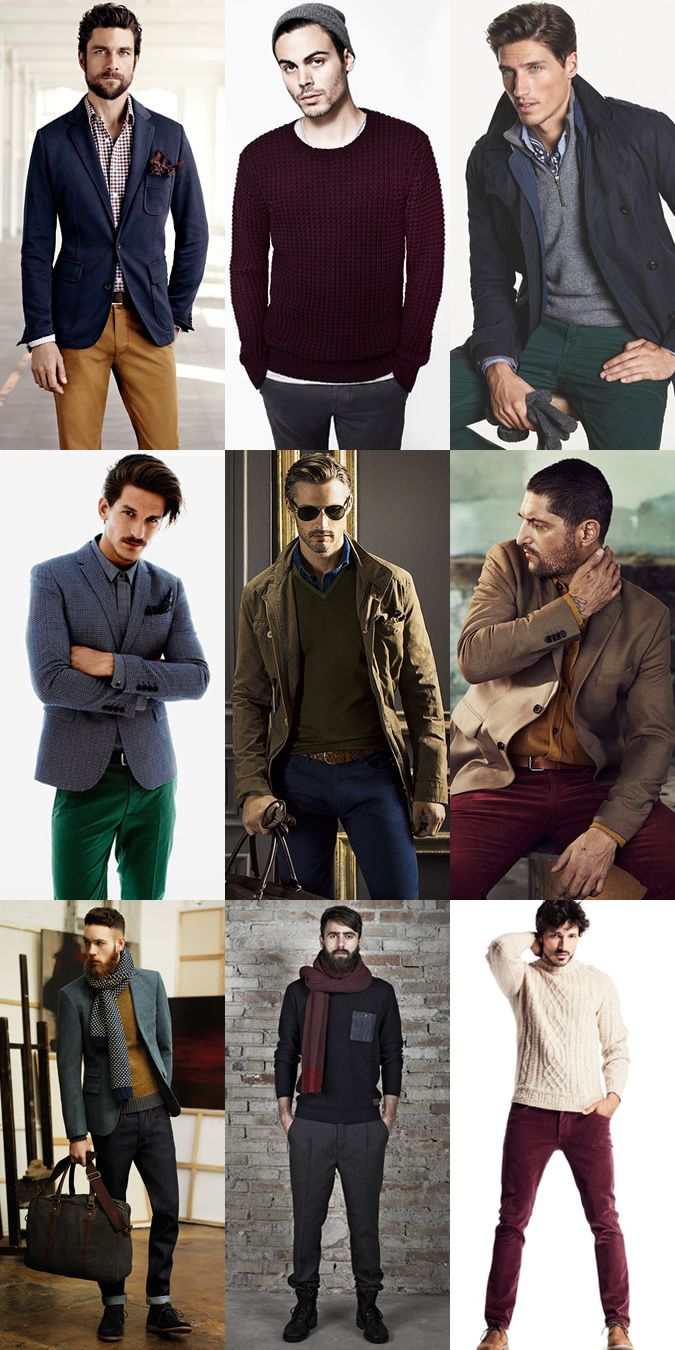 men's christmas coloursinspired outfit inspiration