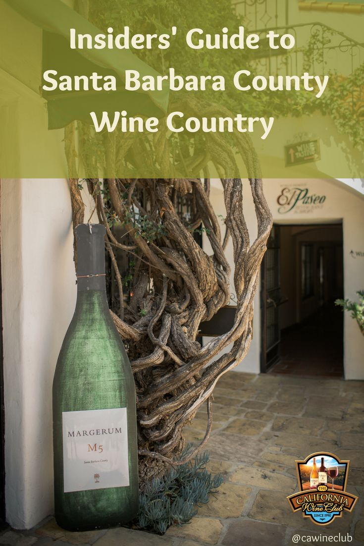 Insiders' Guide to Santa Barbara County Wine Country https://www.cawineclub.com/blog/insiders-guide-to-santa-barbara-county-wine-country/?utm_campaign=coschedule&utm_source=pinterest&utm_medium=The%20California%20Wine%20Club&utm_content=Insiders%27%20Guide%20to%20Santa%20Barbara%20County%20Wine%20Country #SantaBarbara #Wine #cawineclub #TheCaliforniaWineClub