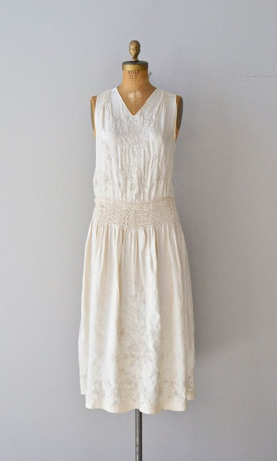 Lydian Treasure dress embroidered silk 1920s by DearGolden