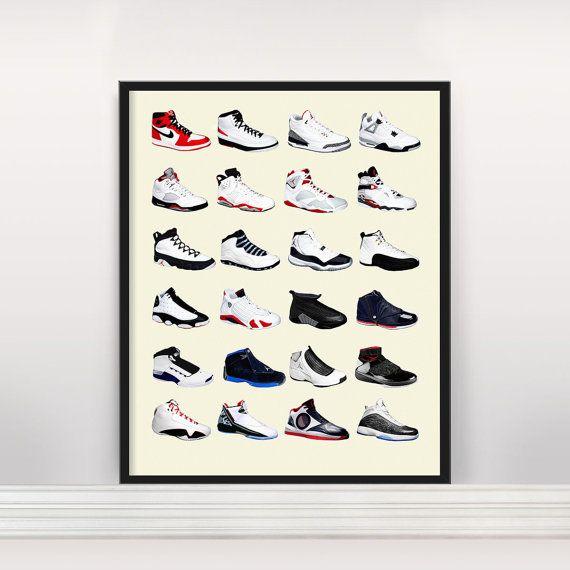 Nike Air Jordans  Jordan Poster  Nike Poster  by PigeonEditions