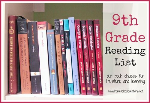 9th grade reading list - book choices for literature and learning #homeschool