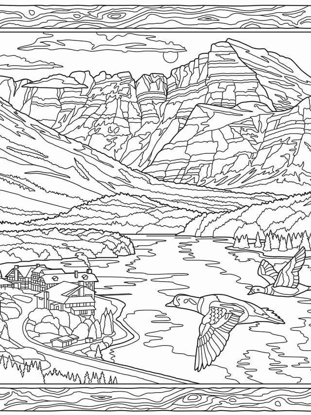 National Parks Coloring Book New Color Your Way Through Glacier National Park Anatomy Coloring Book Coloring Books Johanna Basford Coloring Book